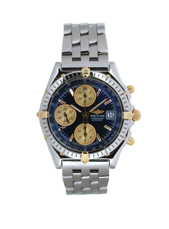 B13050 1 Breitling Chronomat Blue Steel O40 Mm Used Price 2 260